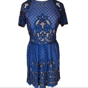 City Triangles Semi Formal Lace Cut Out Dress